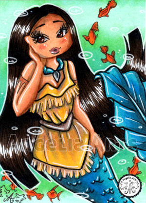 #048 Pocahontas Chibi Mermaid