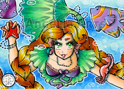 #117 Mermaid with a starfish