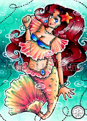 #119 Fire Mermaid