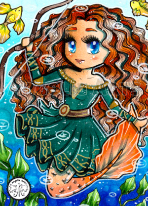 #167 Merida Chibi Mermaid
