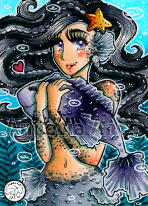 #209 Grey dotted Mermaid