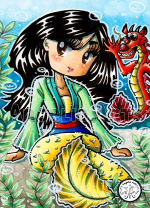 #210 Mulan Chibi Mermaid
