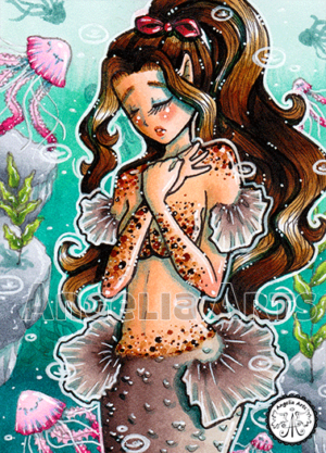 #222 Brown dotted Mermaid
