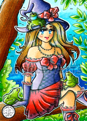 #184 Witch with frogs